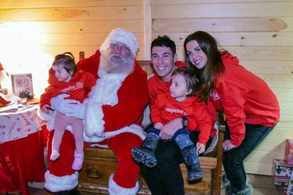 Nuestros #guerreroscorall visitan a Papá Noel