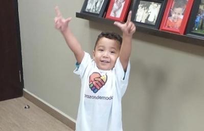 Hoy queremos presentaros a Josué, un pequeño guerrero de 3 años
